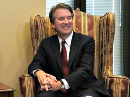 JULY 19: Supreme Court nominee Judge Brett Kavanaugh during a meeting with U.S. Sen. Dean Heller (R-NV) on Capitol Hill July 18, 2018 in Washington, DC. Kavanaugh is meeting with members of the Senate after U.S. President Donald Trump nominated him to succeed retiring Supreme Court Associate Justice Anthony Kennedy.