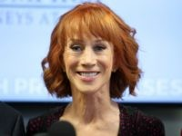 Kathy Griffin speaks during a press conference at The Bloom Firm on June 2, 2017 in Woodland Hills, California. Griffin is holding the press conference after a controversial photoshoot where she was holding a bloodied mask depicting President Donald Trump and to address alleged bullying by the Trump family. (Photo …