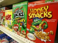 This June 25, 2010, file photo, boxes of Kellogg's Froot Loops, Corn Pops, Apple Jacks, and Honey Smacks sit on the shelf of a Mt. Lebanon, Pa. The Kellogg Company is voluntarily recalling some of its Honey Smacks cereal after salmonella infected 73 people in 31 states. The Centers for …