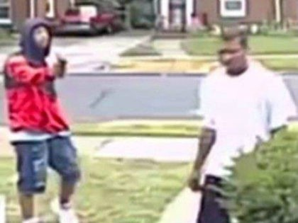 Surveillance footage captured two men targeting Kendrick Holloway, a Vietnam veteran, outside of his home in Detroit.