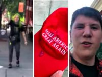 Leftist Spits on Boy's MAGA Hat