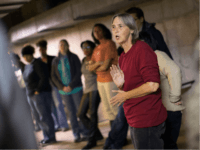 Lisa Fithian offers demonstrators 'direct action' training as they prepare for the announcement of the grand jury decision regarding the death of Michael Brown in the basement of Greater St. Mark's church on November 11, 2014 in St. Louis, Missouri. The training teaches demonstrators various techniques for peaceful civil disobedience. …