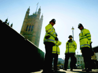 LONDON, ENGLAND - MARCH 2: A Metropolitan police officer patrols the streets of Westminster March 2, 2004 in London. The government today announced figures showing that police force numbers have reached an all-time high, with an increase af almost 6000 to 138,155 officers in the last 12 months. (Photo by …
