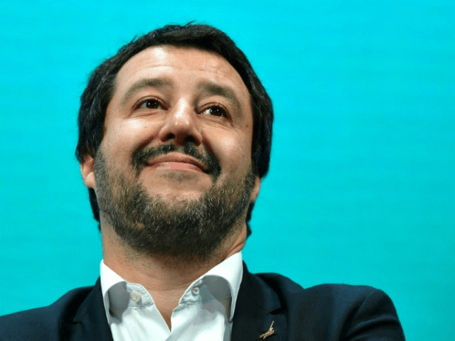 Italy's Interior Minister Matteo Salvini is under fire over plans for a census of the country's Roma community © AFP Alberto PIZZOLI