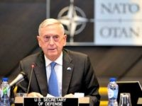 U.S. Secretary for Defense Jim Mattis (C) is pictured ahead of a Defense meeting of NATO ministers and partners at NATO headquarters in Brussels on June 8, 2018.