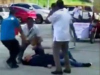 In this image made from video, Philippines Mayor Antonio Halili is seen on the ground after being shot during a flag-raising ceremony, Monday, July 2, 2018, in Tanauan city, south of Manila, Philippines. Mayor Halili known for parading drug suspects in public but also alleged to have drug ties himself …