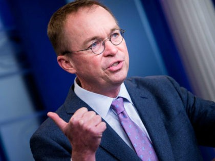 Office of Management and Budget Director Mick Mulvaney speaks about the Consolidated Appropriations Act of 2018 at the White House March 22, 2018 in Washington, DC. Trump will sign off on a massive spending deal reached by Republican and Democratic leaders on Capitol Hill, the White House said Thursday, acknowledging …