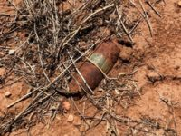 MK2 37mm unexploded ordnance round found by Border Patrol agent near Arizona-Mexico border. (Photo: U.S. Border Patrol/Tucson Sector)