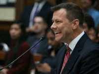Deputy Assistant FBI Director Peter Strzok speaks during a joint committee hearing of the House Judiciary and Oversight and Government Reform committees hearing in the Rayburn House Office Building on Capitol Hill July 12, 2018 in Washington, DC. While involved in the probe into Hillary Clinton's use of a private …