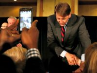 COLUMBUS, OH - MAY 08: Democratic Gubernatorial candidate Richard Cordray shakes hands with supporters after speaking during a primary night event on May 8, 2018 in Columbus, Ohio. Cordray, the former director of the Consumer Finance Protection Bureau, defeated Larry Ealy, former U.S. Rep. Dennis Kucinich, Ohio Supreme Court Justice …