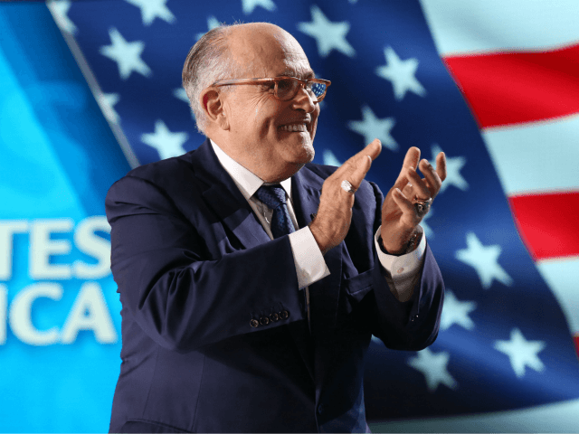 Rudy Giuliani, former mayor of New York attends 'Free Iran 2018 - the Alternative' event organized by exiled Iranian opposition group on June 30, 2018 in Villepinte, north of Paris. (Photo by Zakaria ABDELKAFI / AFP) (Photo credit should read ZAKARIA ABDELKAFI/AFP/Getty Images)