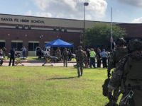 Police and first responders assess situation following shooting at Santa Fe High School. (Photo: Harris County Sheriff's Office)