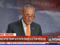 Schumer: Trump Putting Russia's Interests over America's, Millions of Americans Will Wonder if Putin Has Dirt on Trump