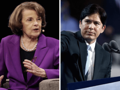 Dianne Feinstein and Kevin de Leon (Associated Press and Getty)