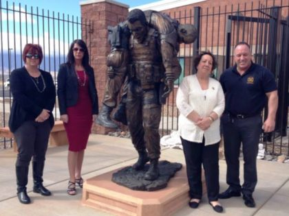 The family of slain Border Patrol Agent Brian Terry at the unveiling of his memorial statue in Arizona. (Family Photo)