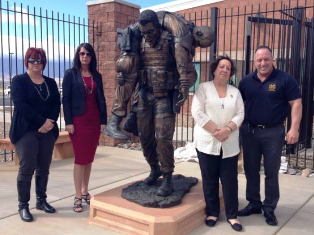 The family of Border Patrol Agent Brian Terry attended the unveiling of a statue cast in his honor at the Brian A. Terry Border Patrol Station in Arizona.
