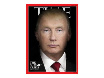 Time magazine cover with Donald Trump morphing into Putin