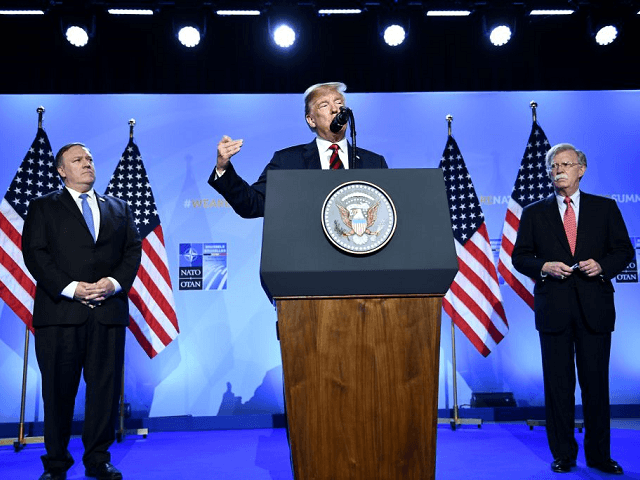 Trump NATO Podium