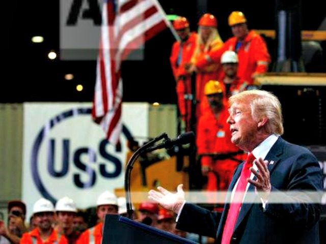 President Trump speaks at Granite City steel mill