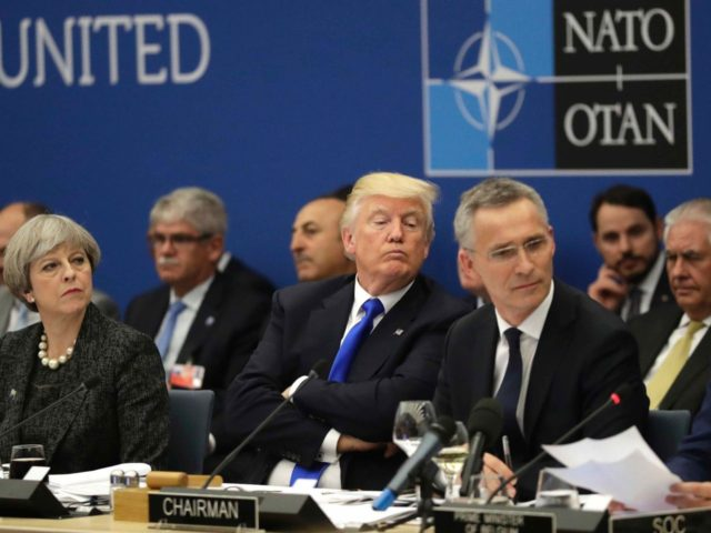 Trump at NATO 2017 (Matt Dunham / AFP / Getty)