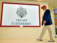 YR, SCOTLAND - JULY 30: Republican Presidential Candidate Donald Trump visits his Scottish golf course Turnberry on July 30, 2015 in Ayr, Scotland. Donald Trump answered questions from the media at a press conference.