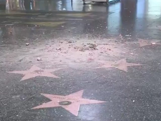 President Trump's star destroyed on Hollywood Walk of Fame