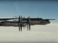 In this photo made from the footage taken from Russian Defense Ministry official web site on Thursday, Nov. 17, 2016, a Russian Tu-95 strategic bomber on a cruise missile attack mission on targets in Syria. The Russian Defense Ministry said Thursday long-range bombers dispatched from Russia fired cruise missiles at …