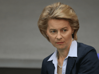 BERLIN, GERMANY - MAY 16: German Defense Minister Ursula von der Leyen attends debates at the Bundestag over the federal budget on May 16, 2018 in Berlin, Germany. Today's debates are likely to be the most intense since the current Bundestag was constituted following last year's federal elections, as the …
