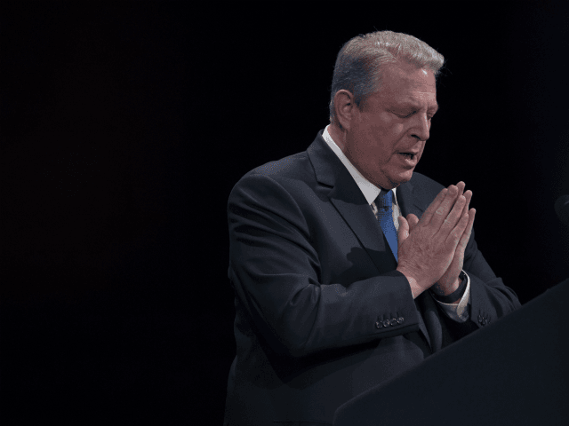 Former Vice President Al Gore gestures as he speaks during an event, Friday, March 9, 2018, in New York. Former Vice President Al Gore and New York Gov. Andrew Cuomo are speaking out against the Trump administration's plans to open up new areas to offshore drilling. (AP Photo/Mary Altaffer)