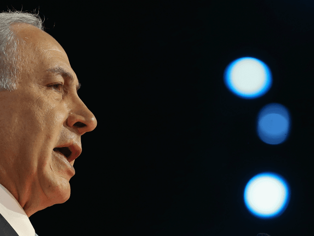 Israeli Prime Minister Benjamin Netanyahu speaks during the American Israel Public Affairs Committee (AIPAC) 2015 Policy Conference, March 2, 2015 in Washington, DC. Tomorrow March 3rd Prime Minister Netanyahu is scheduled to address a joint session of the US Congress. (Photo by Mark Wilson/Getty Images)