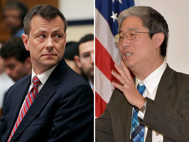 Bruce Ohr (L) and Peter Strzok (R).