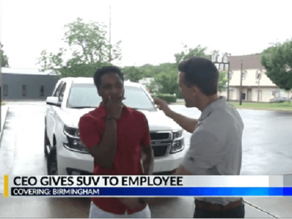 Dedicated worker receives car from CEO after walking all night to work