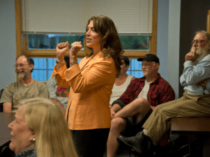 New York Democratic Congressional candidate Tedra Cobb said she supports a ban on some firearms, but admitted that she will never say so in public out of fear of losing the election. (Tedra Cobb campaign)