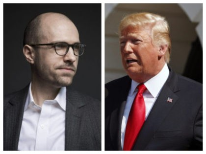 A.G. Sulzberger and Trump in combo photo