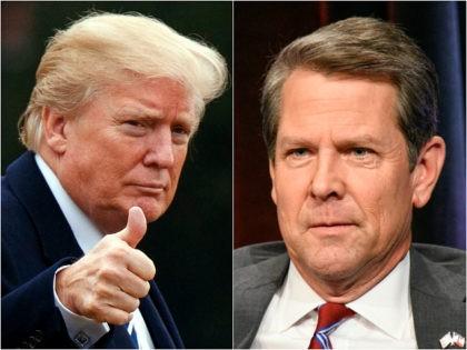Donald Trump and Brian Kemp