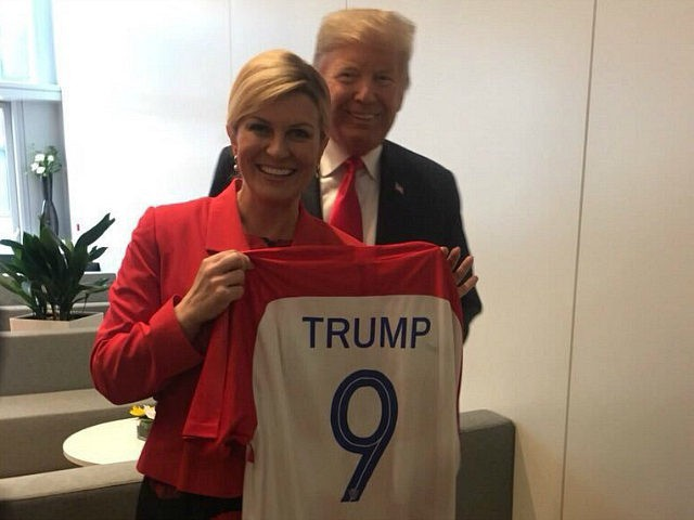 President Trump Given a Croatia Jersey Hours Before Upset Win Over England