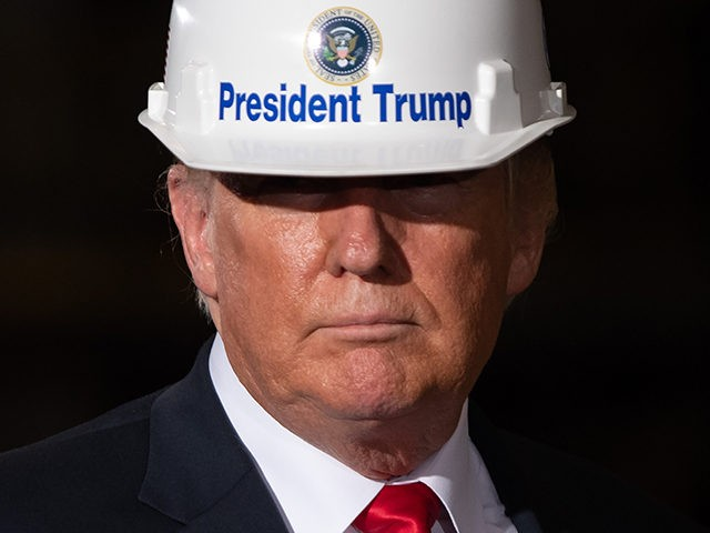 US President Donald Trump tours US Steel's Granite City Works steel mill in Granite City, Illinois on July 26, 2018. (Photo by SAUL LOEB / AFP) (Photo credit should read SAUL LOEB/AFP/Getty Images)