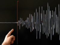 A technician of the French National Seism Survey Institute (RENASS) presents a graph on March 11, 2011 in Strasbourg, Eastern France, registered today during a major earthquake in Japan. A 8.9 magnitude quake hit northeast Japan today, causing many injuries, deaths, fires and a tsunami along parts of the country's …