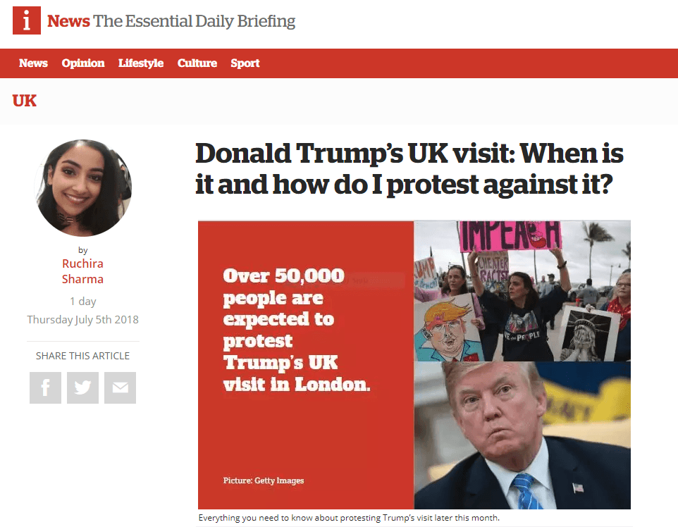 Americans in United Kingdom  warned to keep 'low profile' during Trump visit