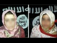 Two examples of images distributed on social media, purportedly of Druze women held captive by ISIS militants after an attack on the village of Al-Shobki in Syria's Sweida province on July 26, 2018. Reports say social ISIS sent photos of the kidnapped women and girls to their families via WhatsApp, …