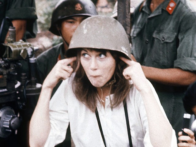 Jane Fonda, visits anti-aircraft gun position near Hanoi, Vietnam, July 1, 1972. (AP Photo)