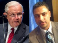 Jeff Sessions (L) and Imran Awan (R).