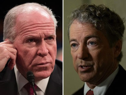 Former CIA Director John Brennan and Sen. Rand Paul (R-KY).