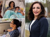 Hospital photos of congressional candidate Katie Arrington recovering from a car crash.