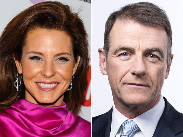 Stephanie Ruhle (L) and Bill Neely (R) of NBC News.
