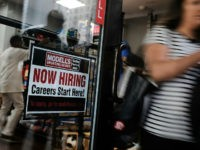 NEW YORK, NY - JUNE 01: A store advertises that they are hiring in lower Manhattan on June 1, 2018 in New York, New York. According to the Labor Department, which released its official hiring and unemployment figures for May on Friday, the unemployment rate in America was 3.8 percent, …