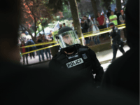 Antifascist demonstrators confront police during a protest on June 4, 2017 in Portland, Oregon. A protest dubbed 'Trump Free Speech' by organizers was met by a large contingent of counter-demonstrators who viewed the protest as a promotion racism. Many residents of Portland are still coming to terms with the recent …