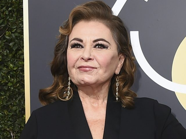 "In this Jan. 7, 2018 file photo, Roseanne Barr arrives at the 75th annual Golden Globe Awards in Beverly Hills, Calif. Barr is blaming a racist tweet that got her hit show canceled on the insomnia medication Ambien, prompting its maker to respond that ""racism is not a known side …"