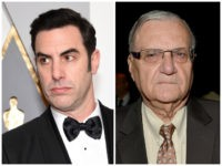 Cohen: HOLLYWOOD, CA - FEBRUARY 28: Actor Sacha Baron Cohen attends the 88th Annual Academy Awards at Hollywood & Highland Center on February 28, 2016 in Hollywood, California. (Photo by Ethan Miller/Getty Images) Arpaio: PHOENIX, ARIZONA - APRIL 09: Sheriff Joe Arpaio attends Muhammad Ali's Celebrity Fight Night XXII at …