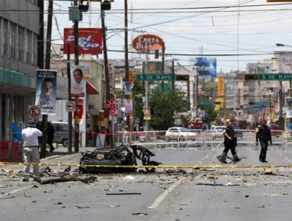 Cartel violence in Juarez, Mexico.